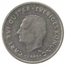 1 крона 2008 Швеция, Карл XVI Густав