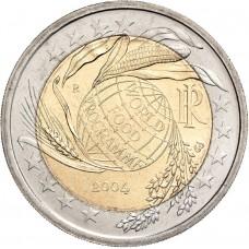 2 Евро 2004 Италия XF.50 лет Всемирной продовольственной программы