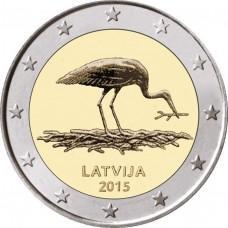2 Евро 2015 Латвия - Природа в опасности, Чёрный аист