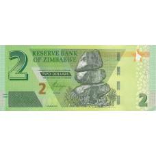Зимбабве 2 доллара 2019 UNC