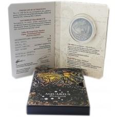 20 рублей 2013 год - Знак зодиака - Водолей (с кристаллами Сваровски). Серебро.