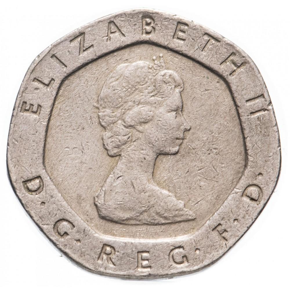 Великобритания, 20 пенсов 1982-1994