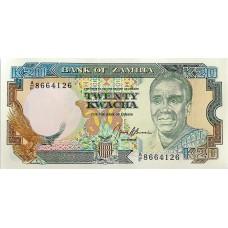 Замбия 20 квач 1989-1991 UNC пресс