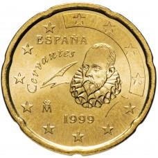 20 евроцентов Испания 1999