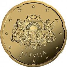 20 евро центов Латвия