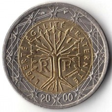 2 евро Франция 2000