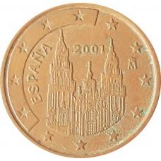 5 евроцентов  Испания 2001