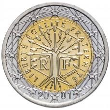 2 евро Франция 2001