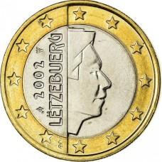 1 евро Люксембург 2002 год