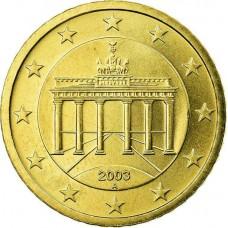 10 евроцентов Германия 2003 (случайный двор)