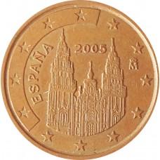 5 евроцентов  Испания 2005