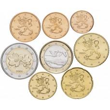 Набор евро монет Финляндия 2006 UNC 8 штук