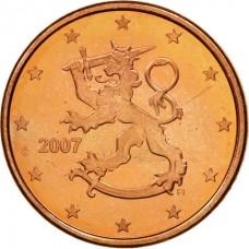 2 евро цента Финляндия 2007 UNC