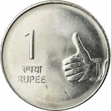 1 рупия Индия  2007-2011