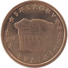 2 евро цента Словения 2007 UNC