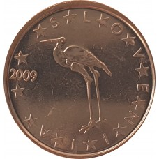 1 евро цент Словения 2009 UNC