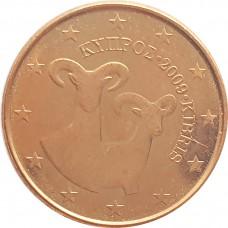 1 евроцент Кипр 2009 UNC