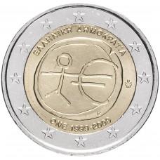 2 Евро 2009 Греция XF.10 лет Экономическому и валютному союзу