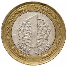 Турция 1 лира 2009-2021 XF