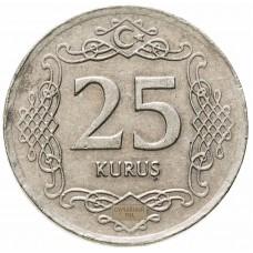 Турция 25 курушей 2009-2021