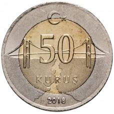 50 курушей Турция 2009-2021 aUNC