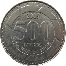 500 ливров Ливан 2009