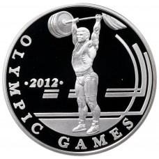 100 тенге 2010 XXX летние Олимпийские Игры, Лондон - Тяжёлая атлетика - Штанга, серебро 925