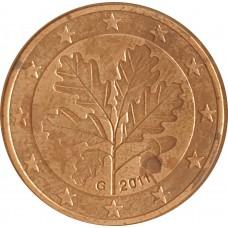 1 евроцент  Германия 2011