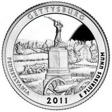 25 центов США 2011 Национальный парк Геттисберг, Пенсильвания, 6-й парк