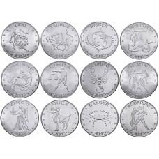 Набор Знаки из 12 монет Знаки Зодиака Сомалиленд - 10 шиллингов 2012