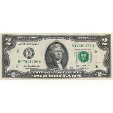 США 2 доллара 2013