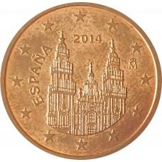 5 евроцентов  Испания 2014