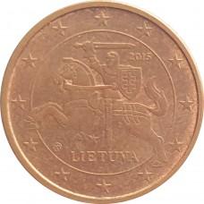 1 евроцент Литва  2015