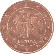 2 евроцента Литва 2015 XF