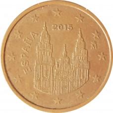 2 евроцента Испания 2015