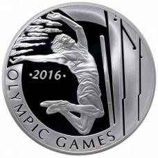 100 тенге 2013 Казахстан XXXI летние Олимпийские Игры, Рио-де-Жанейро 2016 - Прыжки с шестом, серебро 925