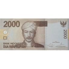 Индонезия 2000 рупий 2016 UNC пресс (Панджеран Антасари)
