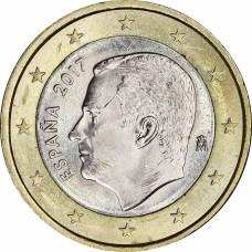 1 евро Испания 2017