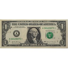 США 1 доллар 2017 * звезда, замещенка, А - Бостон, UNC пресс