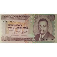 Бурунди.100 франков.2011.UNC пресс.