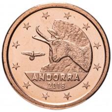 2 евро цента Андорра 2018 UNC