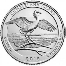 25 центов США 2018 Национальное побережье острова Камберленд в Джорджии-. 44-Й ПАРК, двор D