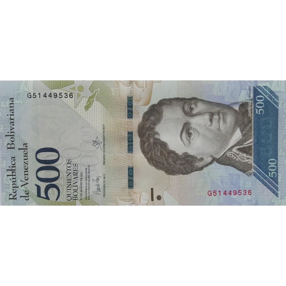 Венесуэла.500 боливар. 2017.UNC
