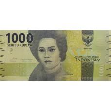 Индонезия . 1000 рупий 2016 года.  UNC пресс