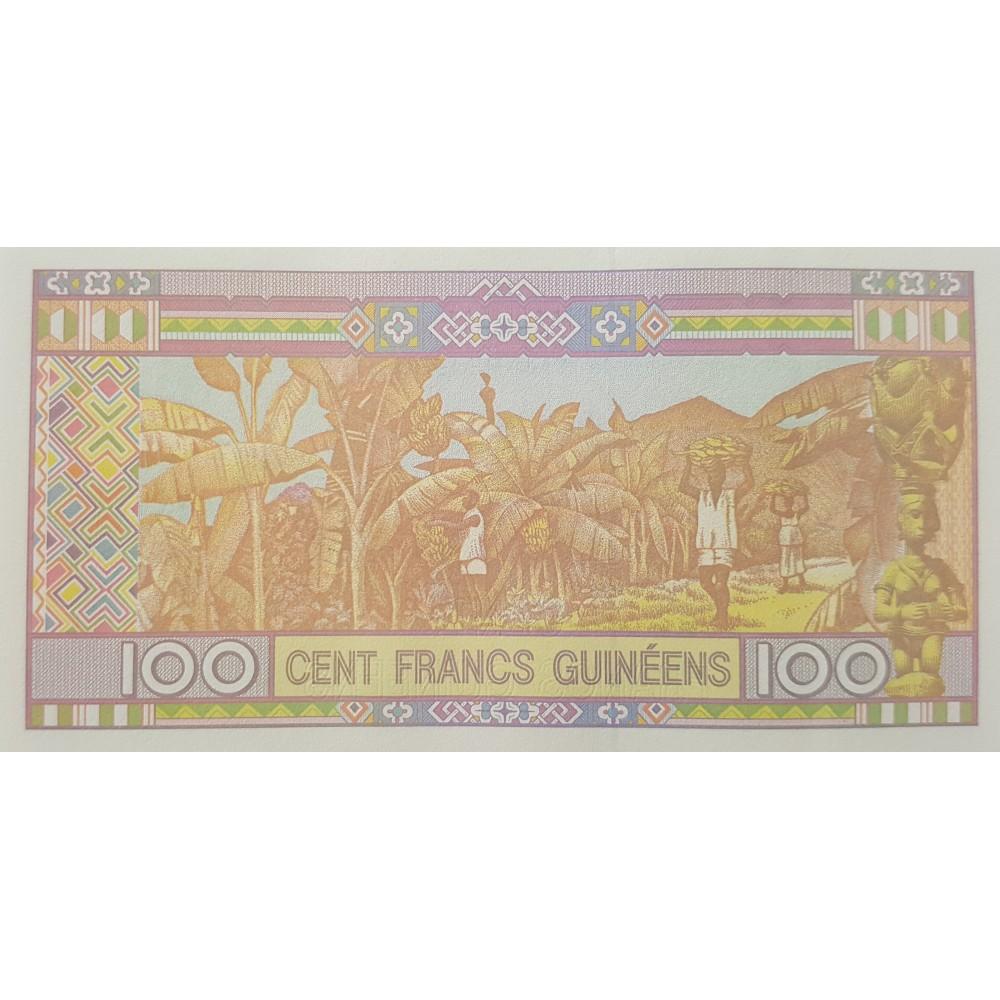 Гвинея 100 франков 2015 UNC пресс