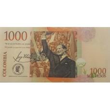 Колумбия.1000 песо 2015 г. UNC пресс