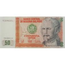 Перу. 50 инти. 1987 г. UNC пресс