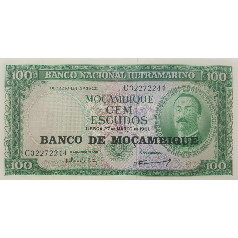 Мозамбик 100 эскудо 1961.UNC пресс.