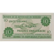 Бурунди 10 франков 2007.UNC пресс