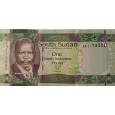 Южный Судан 1 Фунт 2011 UNC пресс.